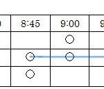 座席回転率調査の表(入力例)
