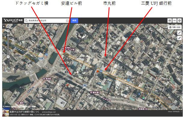長崎通行量_航空写真