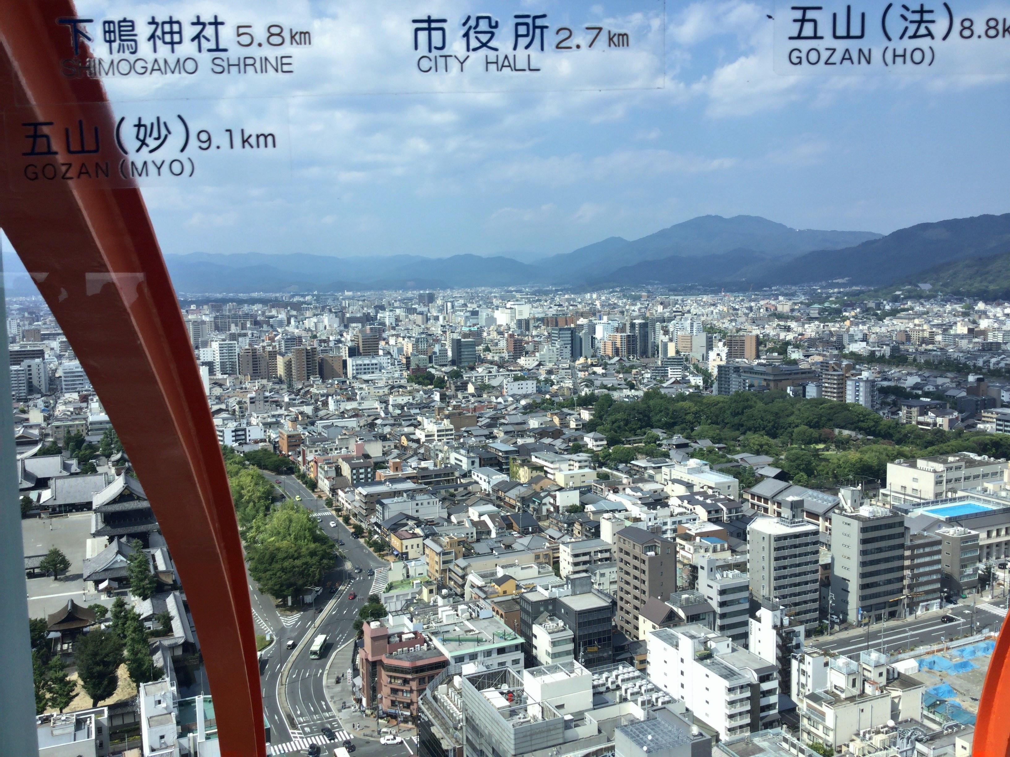 五山(法)、五山(妙)、市役所、下鴨神社、比叡山、京都大学方面