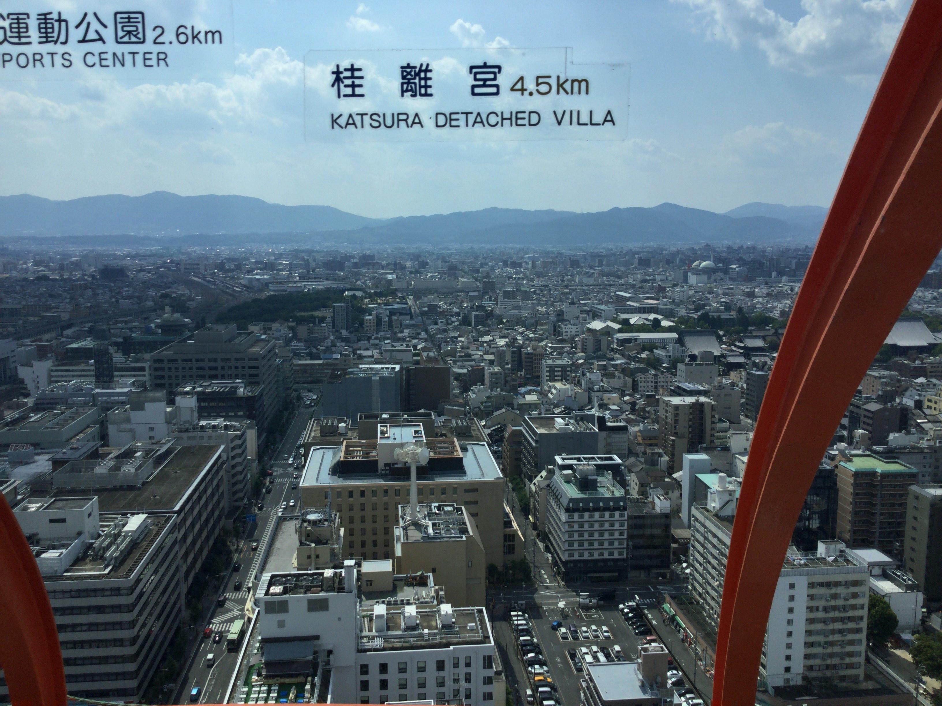 西京極総合運動公園、桂離宮、京都水族館方面