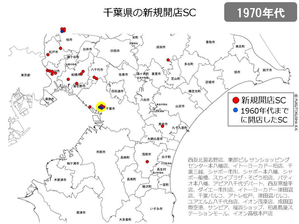 千葉県の新規開業SC(1970年代)