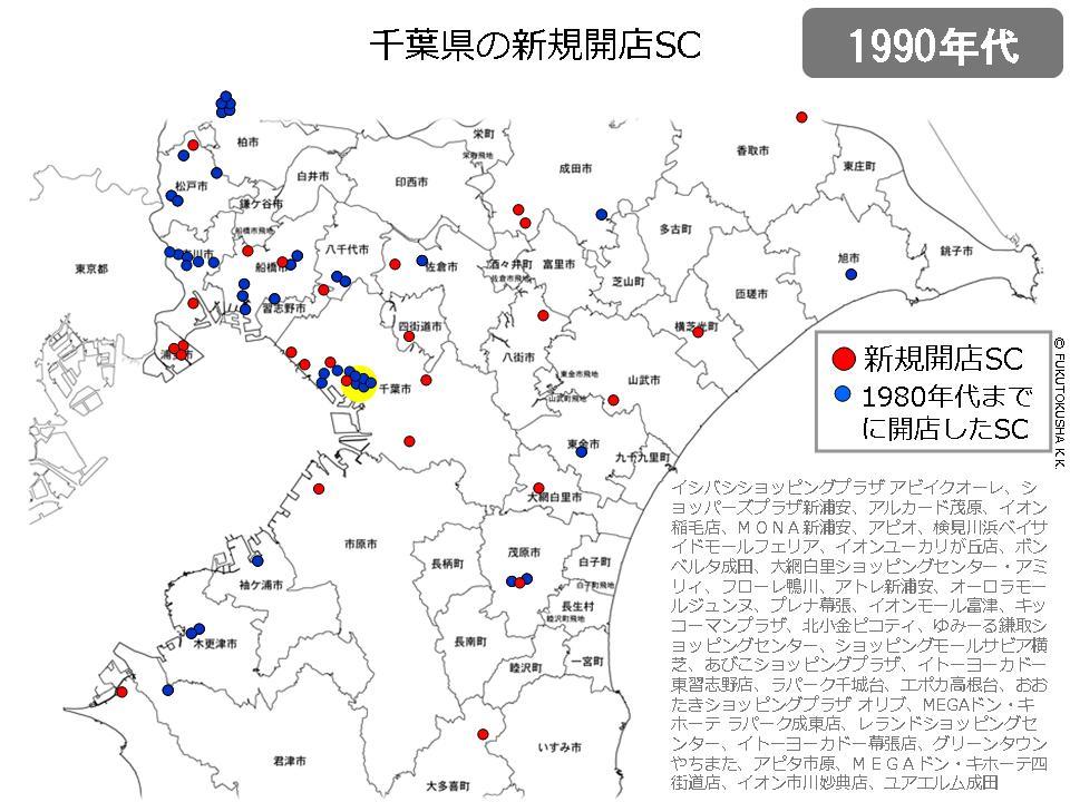 千葉県の新規開業SC(1990年代)